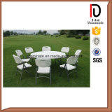 Portable Outdoor Garden Furniture HDPE Plastic Rectangle Camping Folding Table (BR-117)
