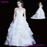 Adult Women Organza Sexy Bride Costume Ball Gown Wedding Dress
