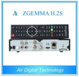 Twin Tuner Satellite Receiver Dual Core Zgemma H. 2s DVB-S2+DVB-S2 HD