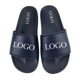 Name Brand Slip on PVC Sandals Slides, Fashion Summer Beach Sandal Mens Sldies, Flat Plain Blank Custom Logo Slide Sandal Men
