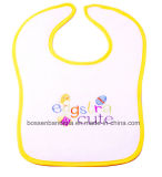 Factory Produce Custom Logo Embroidered Cotton Terry Christmas Baby Bib
