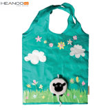 Animal Cheap Foldable Custom 190t Polyester Folding Shopping Bag