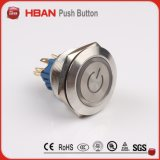 Hbgq25 25mm Anti-Vandal Waterproof Metal Switch, Pushbutton Switch