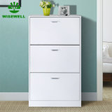 3 Tier Wood Modern Shoe Cabinet Home Furniture in Particle Board