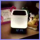 Square LED Lamp Dynamic Color Changing TF Wireless Bluetooth Speaker with Clock