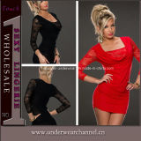 High Quality Women Lace Party Bodycon Cocktail Mini Dress (N172)