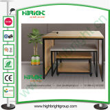 Clothes Shop Pine Wood Display Nesting Tables for Stores