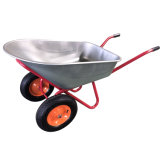 Custom Wheel Barrows with Galvanized Tray and Two Wheels Factory