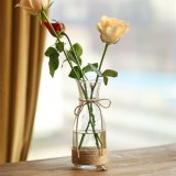 Rope Design Clear Sigle Flower Glass Vase
