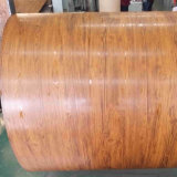 Wood Grain Color Prepainted Aluzinc Steel Coil with Protected Film