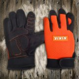 Synthetic Leather Glove-Micro Fiber Glove-Industrial Glove-Safety Glove-Work Glove-Mechanic Glove