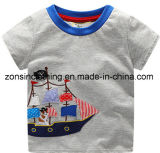 Children Clothes with Boat for Boys′ in Summer T-Shirt