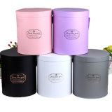 Custom Logo Round Flower Box for Wedding Favor