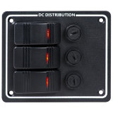 LED Rocker Switch Panels with Fuse DC Distribution Switch Panel