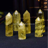 High Qualilty Natural Yellow Crystal Column/Pillars