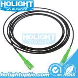 3.5mm Sc APC to Sc APC Black Fiber Optic Patch Cord