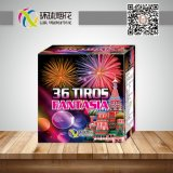 Wholesale 0.8inch 36shots Fantasia Straight Outdoor Consumer Fountain Fireworks Cake