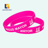 Custom Reflective Silk Screen Color Silicone Bracelet Promotional Items