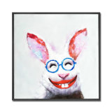 Home Decoration Abstract Canvas Art Painting Rabbit Animal Oil Painting