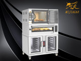 Wholesale Commercial Electric Baking Equipment Combination Oven for 2 Decks 4 Trays Electric Oven with 10 Trays Proofer