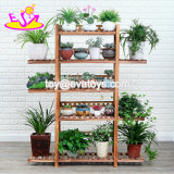 Wholesale Garden Wooden Flower Pot Rack with Customize W08h111