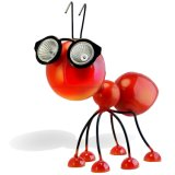 Outdoor Metal Animal Red Ants Solar Garden LED Light for Home Lawn Decoration