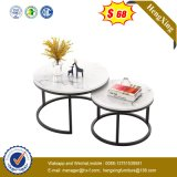 Gold Coffee Table Modern Marble Stainless Steel Coffee Tables Leg Living Room Sofa Side End Table (HX-CF006)