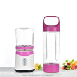 Portable Blender with Travel Cup and Lid, USB Rechargeable Personal Smoothie Blender, Cordless Handheld Small Mini Single Serve Juicer Blender