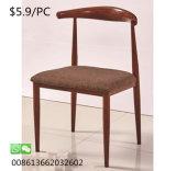 Fabric Best Price Hotel Furniture Restaurant Metal Iron Dining Chair