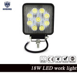 Square 4'' LED 27W LED Work Light Flood Beam Waterproof Epistar 12V 24V Available 27W LED Work Light for Car Fog Lamp