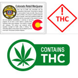 Colorado Medical Rx Labels 1000/Roll Mmj Thc & Cbd Mg Ca State Warning Sticker