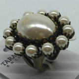 New Fashion Ring Jewelry, New Design Multicolor Finger Ring, Pearl Wedding Ring Designs for Women