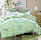 Pure Cotton Goose Down Feather Duvet/Quilt/Comforter for Home