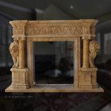 Granite Stone Indoor Decoration Lion Sculpture Marble Fireplace