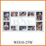 Love Wooden Collage Photo Frame with 10 Opening (WD10-25W)
