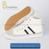 Casual and Fashion High Cutting PU Ladies' Footwear with Rubber Sole