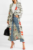 High Quality and Low MOQ Cindy Printed Crepe Wrap Dress Wholesale