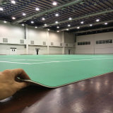 PVC Sports Flooring Indoor for Badminton Courts Litchi Pattern