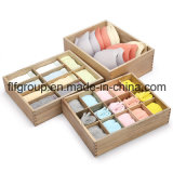 Custom Made Solid Wood Presentation Gift Packaging Box with Dividers