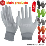 Nmsafety Nylon Fabric Shell Coated PU Assembly Work Glove