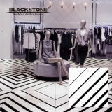 Black and White Series Glazed Polished Porcelain Floor Tile (660009)