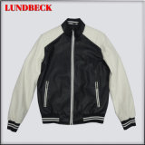 Men′s PU Jacket Simple Coat with Good Quality