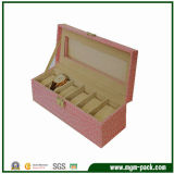 High-End Fashion New Pink Wooden Watch Box