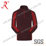 Fleece Polyester OEM Wholesale Mens Sports Fleece Jacket (QF-495)