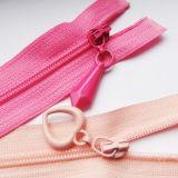 Heart Type Drop Puller Coil Zipper