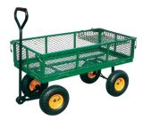 High Quality 700kgs Capacity Steel Mesh Utility Tool Cart/Garden Cart Tc1840