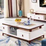 Sitting-Room Natural Wood Modern Sofa End Coffee Table