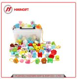 Wholesale Stringing Educational Wooden Bead Toys Learning Wooden Toys