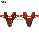 Mens Lingerie Low Rise Christmas Reindeer Costume Thong Briefs Underwear