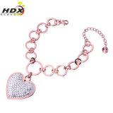 Fashion Big Heart Diamond Jewelry Stainless Steel Bangle